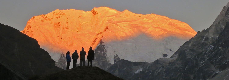 trek au langtang (népal) glaciers et couchers de soleil