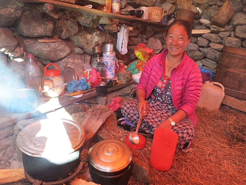 cuisine village népal