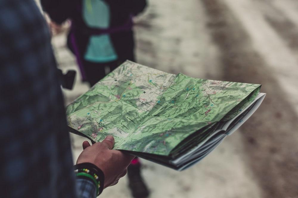 carte top 25 montagne randonnée orientation