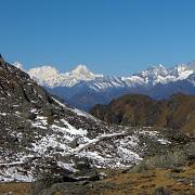 les sommets du langtang, au népal