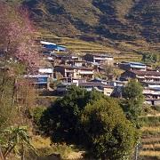 village de départ d'étape langtang népal trek