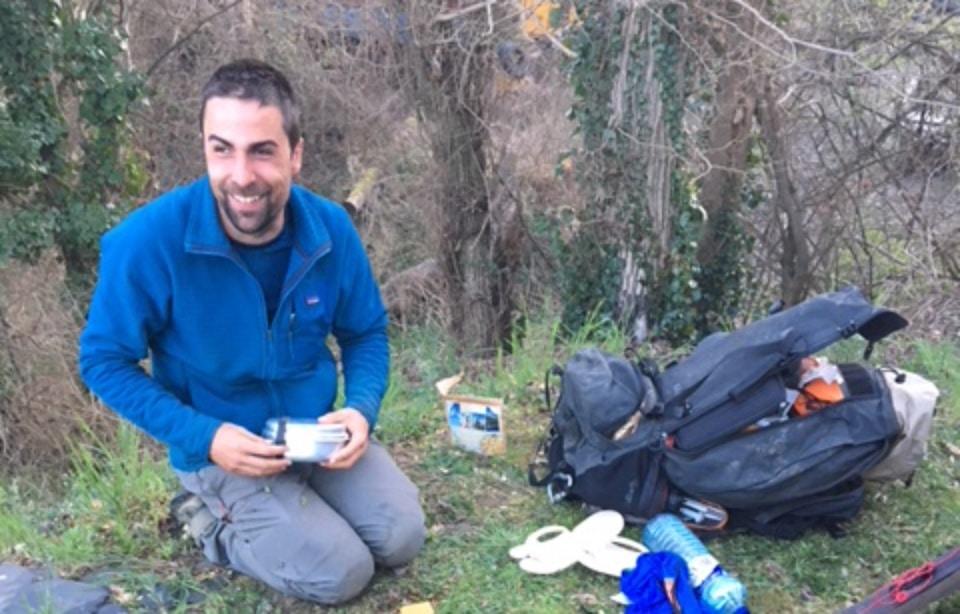 David labarre, un malvoyant fait une randonnée seul et sans gps de 15 jours