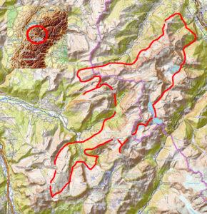 Carte Tour du Valais Haut Giffre