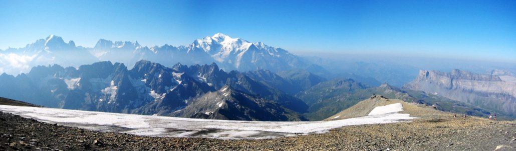 Panorama Mont Blanc sur le Tour du Valais Haut Giffre