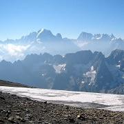 grand tour du valais haut giffre vue massif mont blanc