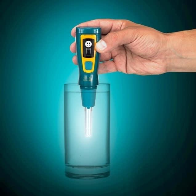 stylo uv purification eau en montagne