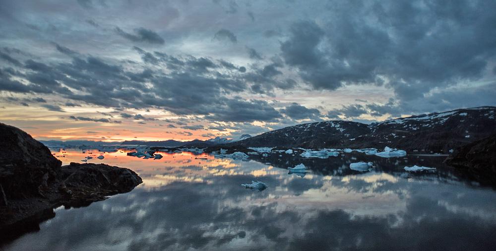 Coucher de soleil Groenland Watse