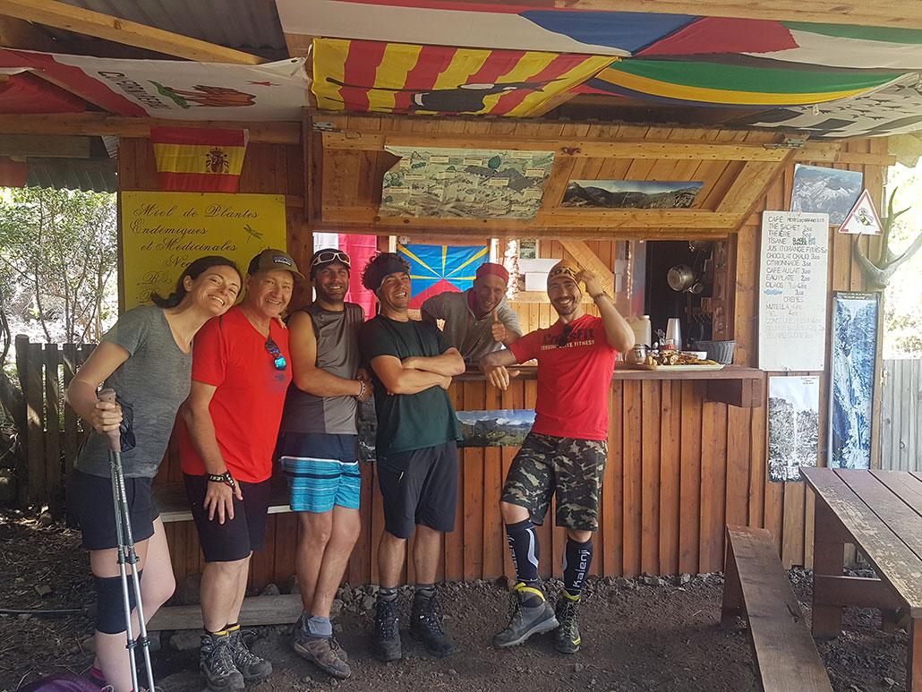 Notre groupe pour la Grande Traversée de la Réunion