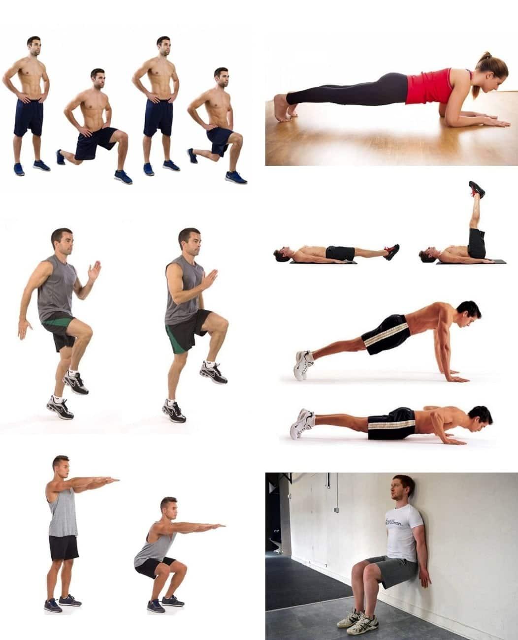 7 exercices de sport à la maison
