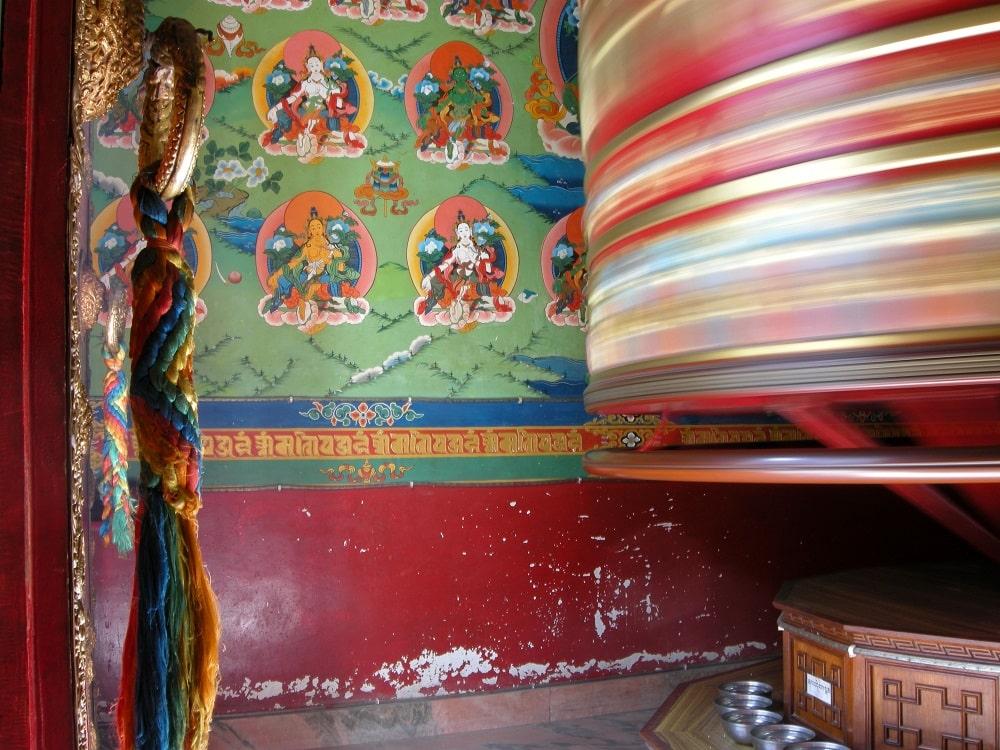 Temple Katmandou , moulins à prières