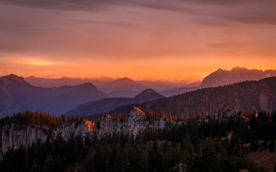 photo en randonnée - réussir photos randonnée - coucher de soleil randonnée