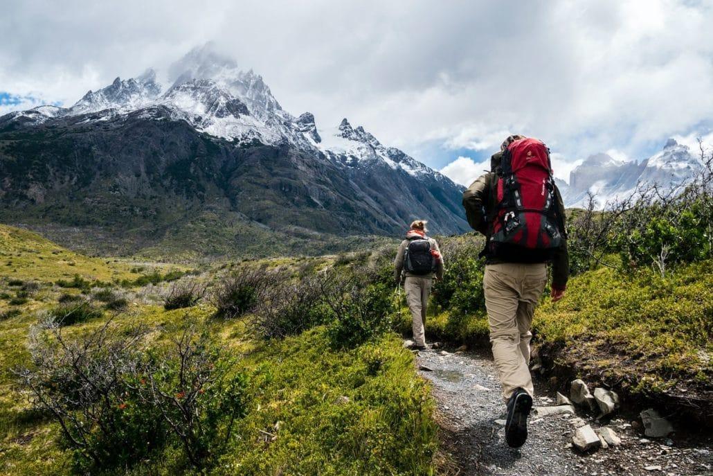 Trek dans les alpes suisses