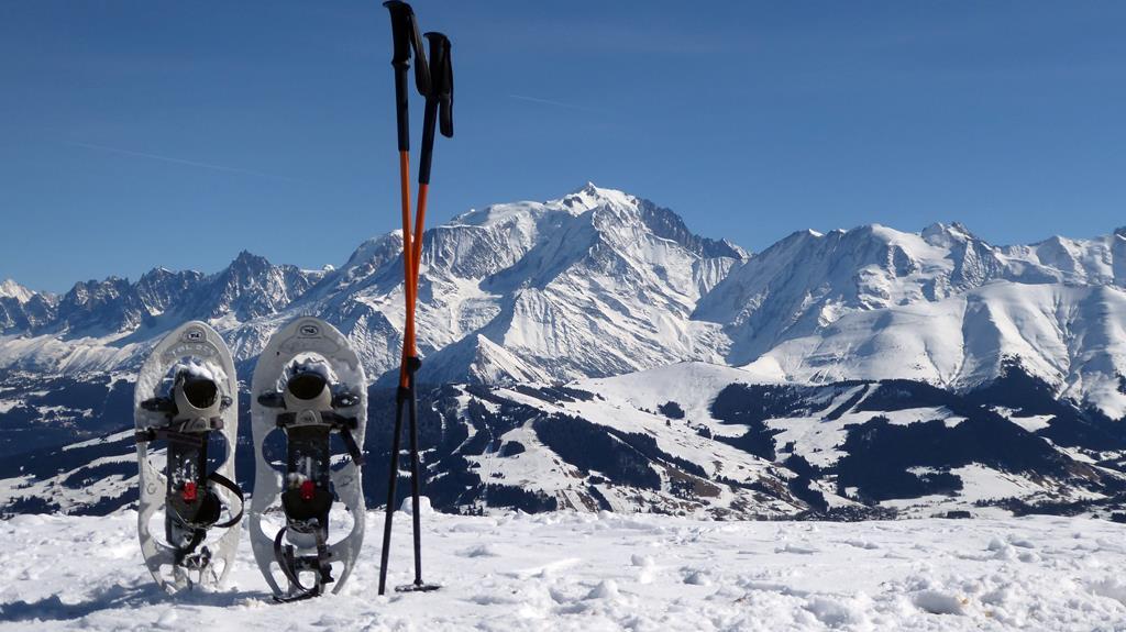 au sommet du Christomet, vue Mont Blanc