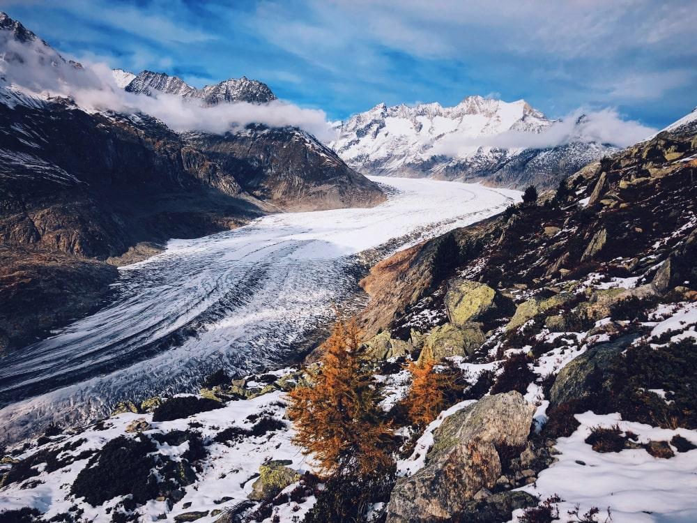 trek haute route de l'Oberland - glacier Aletsch