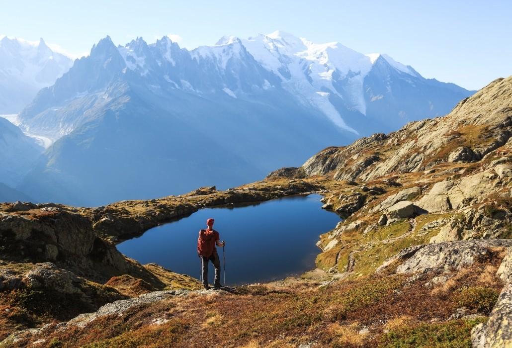 Randonnée près de Chamonix aux lacs Chéserys