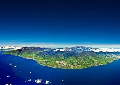 Vue ensemble ile de la Réunion