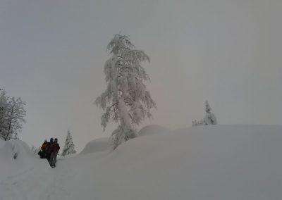 brouillard sur le mont blanc