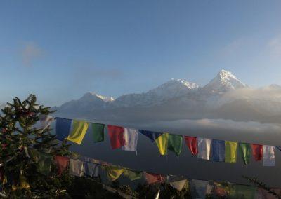 Drapeau de prière montagnes