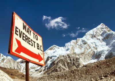 Sur le sentier du Camp de Base de l'Everest