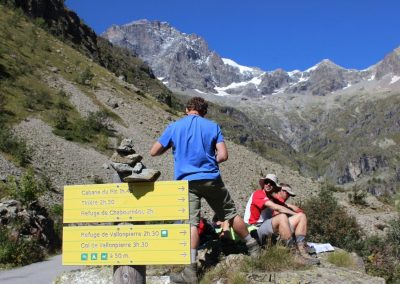 pause en montagne