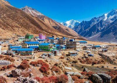 Kyanjin Gompa, halte lors du trek au Langtang