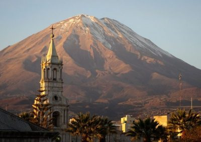 Lever de soleil sur Arequipa