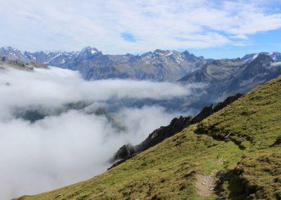 brouillard sur le sommet