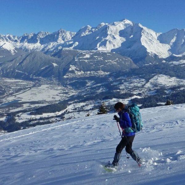 Raquettes aux pied du Mont Blanc