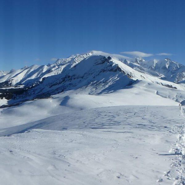 Week-end en raquette au Pays du Mont-Blanc