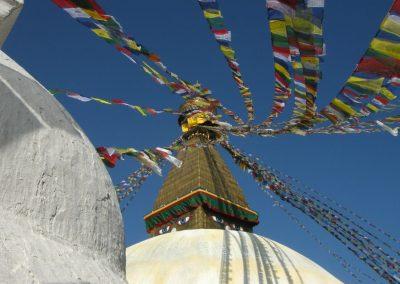 Une stupa sur le chemin d'un trek au Népal