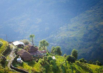 Village de la vallée de Tsum