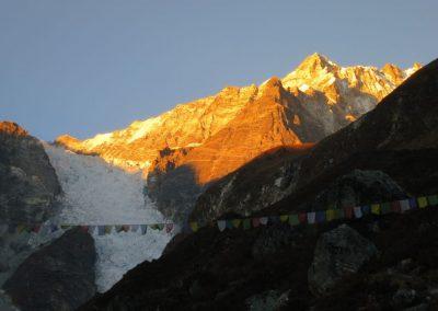 Vue depuis le lodge pendant le trek au Népal