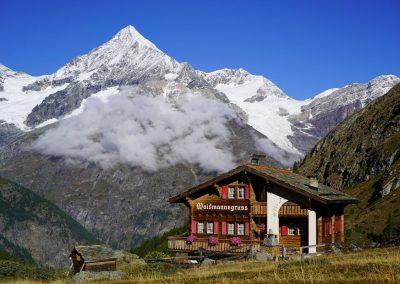 Vue pendant le trek Chamonix-Zermatt