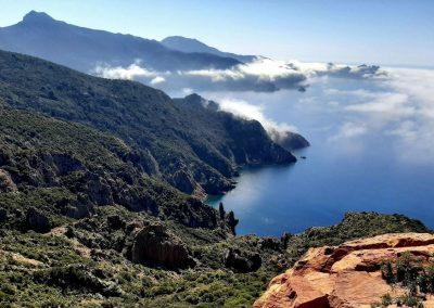 Vue pendant une randonnée près de Calvi, en Balagne, Corse
